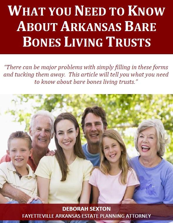 Arkansas Bare Bones Living Trusts